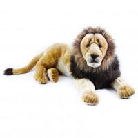 Velký plyšový ležící lev 92 cm