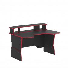 SKYLAND Skill Psací stůl 7055551 - antracitový s červeným lemem Preview