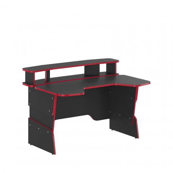 SKYLAND Skill Psací stůl 7055551 - antracitový s červeným lemem