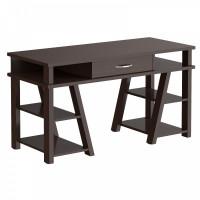 Taipa Comp Psací stůl se zásuvkou a policemi 140 x 60 x 78,4 cm - Wengge Magic