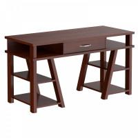 Taipa Comp Psací stůl se zásuvkou a policemi 140 x 60 x 78,4 cm - Burgundy