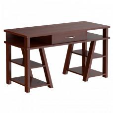 Taipa Comp Psací stůl se zásuvkou a policemi 140 x 60 x 78,4 cm - Burgundy Preview