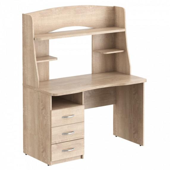 Taipa Comp Psací stůl se zásuvkami a policemi 120 x 60 x 152,5 cm - Sonoma Oak light