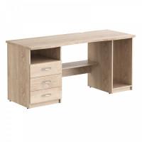 Taipa Comp Psací stůl se zásuvkami a policemi 136 x 63 x 75 cm - Sonoma Oak Light