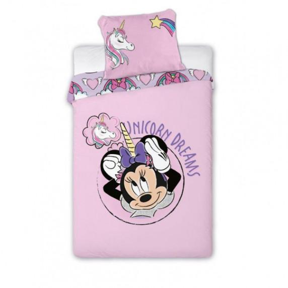 Dětské povlečení Minnie Mouse - jednorožec 140 x 200 cm