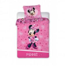 Dětské povlečení Minnie Mouse se srdíčky 135 x 100 cm Preview