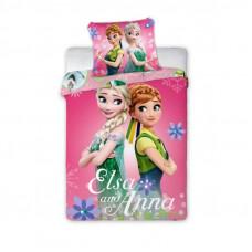 Dětské ložní povlečení Anna a Elza 135 x 100 cm - růžová Preview
