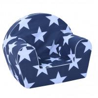 Dětské křesílko velké hvězdičky- modré