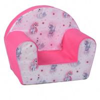 Dětské křesílko jednorožec -růžové