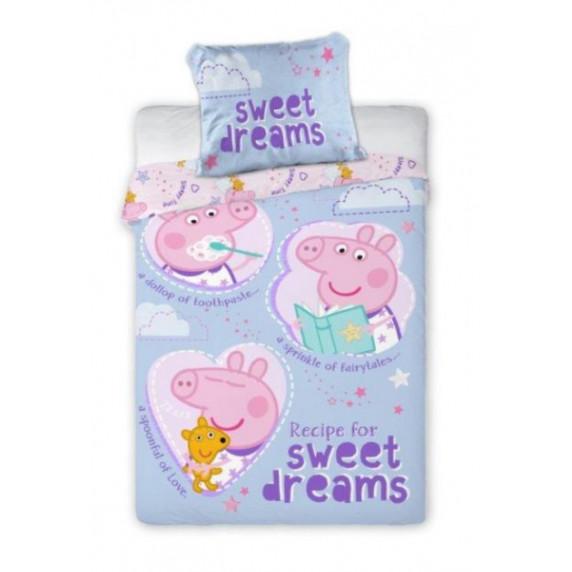 Povlečení Peppa Pig Sweet dreams 135 x 100 cm