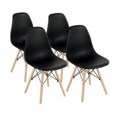 Aga Jídelní židle 4 ks - černá Preview
