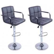 Aga Barová židle s područkami 2 kusy BH015 - Sivá Preview