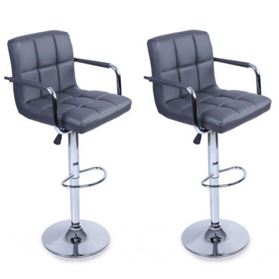 Aga Barová židle s područkami 2 kusy MR2010GREY - Sivá