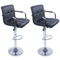 Aga Barová židle s područkami 2 kusy MR2010BLACK - Black