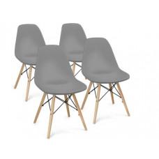 Aga Jídelní židle 4 ks - šedá Preview