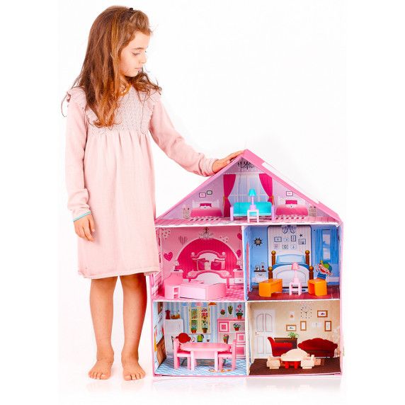 Aga4Kids Skládací domeček pro panenky LISA