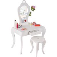 Aga4Kids Dětský toaletní stolek MRDTC02W - bílý