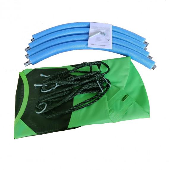 Závěsný houpací kruh Aga MR1060G 100 cm - zelený