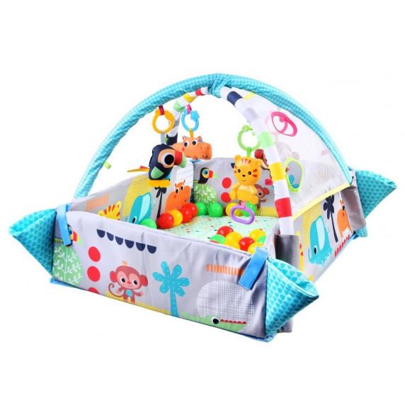 Hrací deka s mantinelem 5v1 Aga4Kids - modrá