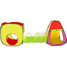 Dětský hrací stan se spojovacím tunelem Aga4Kids  ST-030 - farebné Preview