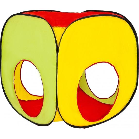 Aga4Kids Dětský hrací stan se spojovacím tunelem ST-030 - farebné