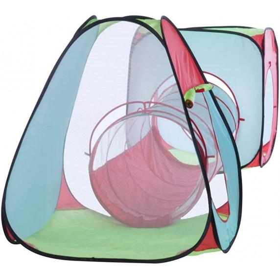 Dětský hrací stan se spojovacím tunelem Aga4Kids MR0031 - barevný