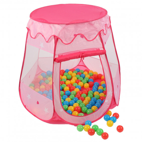 Aga4Kids Dětský hrací stan ST-005-PINK - Růžový