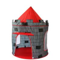 Dětský hrací stan Aga4Kids  CASTLE ST-0108KPH - sivý/červený