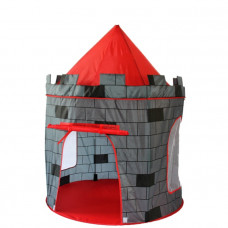 Dětský hrací stan Aga4Kids  CASTLE ST-0108KPH - sivý/červený Preview