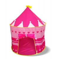 Aga4Kids Dětský hrací stan CASTLE Beautiful Cubby house KL999 ST-0108-PINK - Růžový