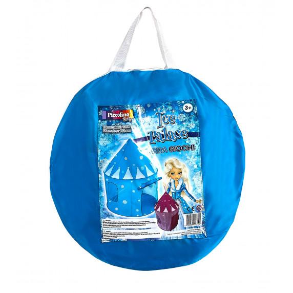 Dětský hrací stan Aga4Kids  Castle ICE PALACE ST-0108IPH 135x102 cm - Modrý