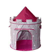 Dětský hrací stan Aga4Kids CASTLE ST-0108-WCP - Růžovo-šedý