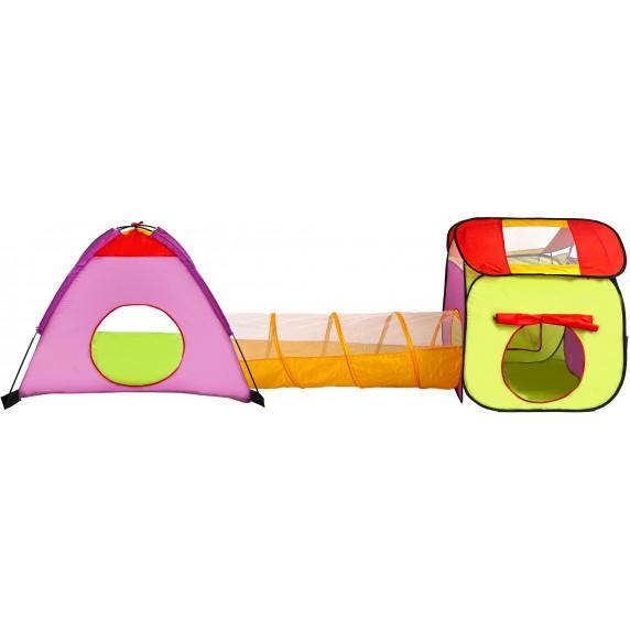 Dětský hrací stan s tunelem Aga4Kids ST-029 - zelený