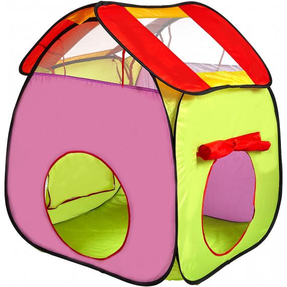 Aga4Kids Dětský hrací stan s tunelem ST-029 - zelený