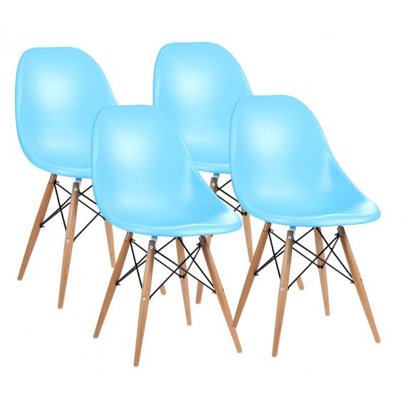 Aga Jídelní židle 4 ks - světlemodrá