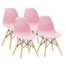 Aga Jídelní židle 4 ks - růžová