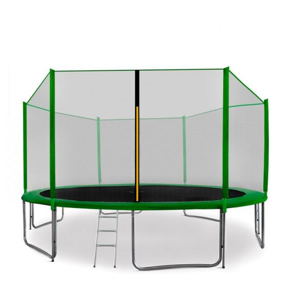 Trampolína AGA SPORT PRO 400/396 cm s ochrannou sítí Green 2016