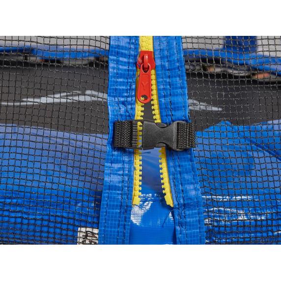 AGA SPORT PRO trampolína 430 cm s vnější ochrannou sítí modrá + žebřík + kapsa na obuv - modrá