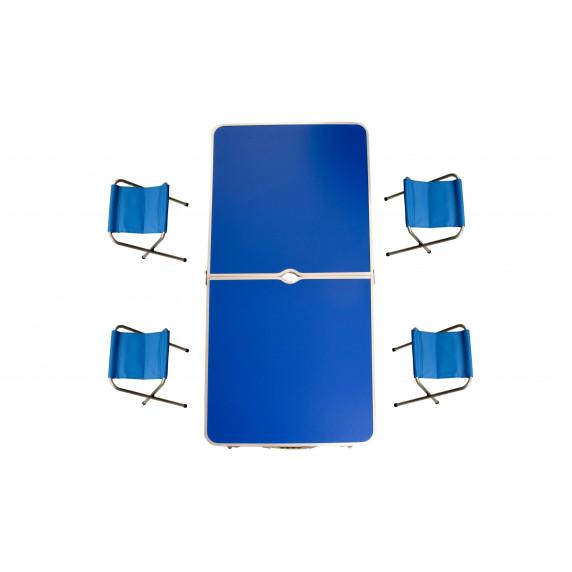 Kempingový skládací set Aga - Modrý