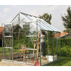 VITAVIA URANUS skleník 6700 číre sklo 3 mm stříbrný