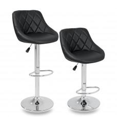 Tresko Barová židle černá-2 kusy Preview