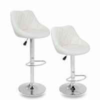 Tresko Barová židle béžová - 2 kusy