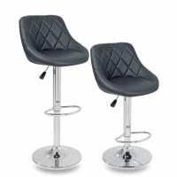 Tresko Barová židle sivá - 2 kusy