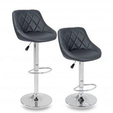 Tresko Barová židle sivá - 2 kusy Preview