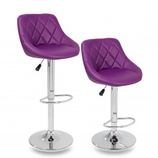 Tresko Barová židle fialová - 2 kusy Preview
