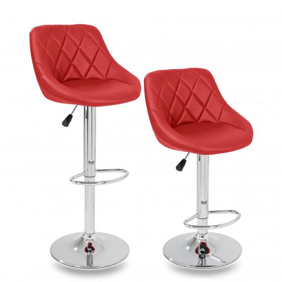 Aga Barová židle 2 kusy - Červená