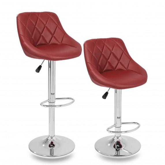 Aga Barová židle 2 kusy MR2000BURGUNDY - Burgundy