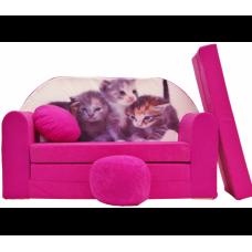 Aga Rozkládací dětská pohovka MAXX 477 - Kočičky Preview