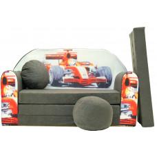 Aga Rozkládací dětská pohovka MAXX 064 - Auto F1 sivá Preview