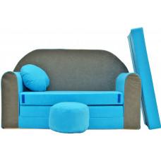 Aga Rozkládací dětská pohovka MAXX 163 - Modrá/šedá Preview